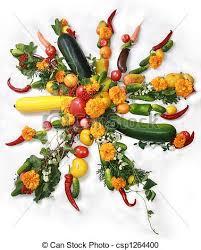 soleil en légumes
